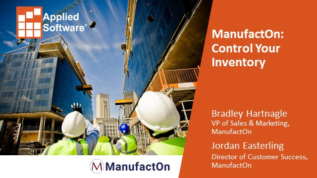 ManufactOn: Control your Inventory