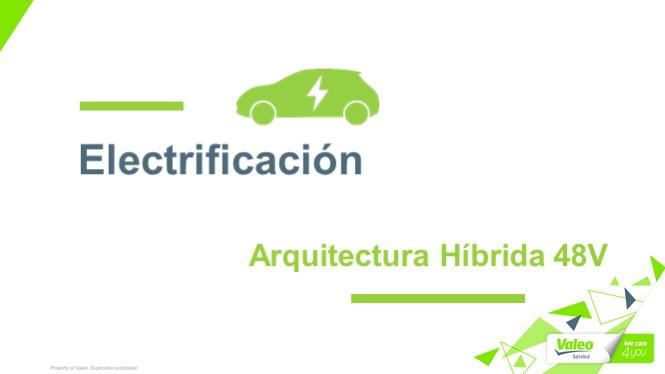 Electrificación Valeo: Arquitectura Híbrida +48V