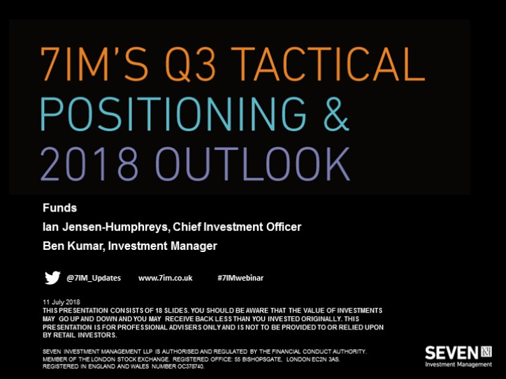 7IM's Q3 Tactical Positioning - Funds