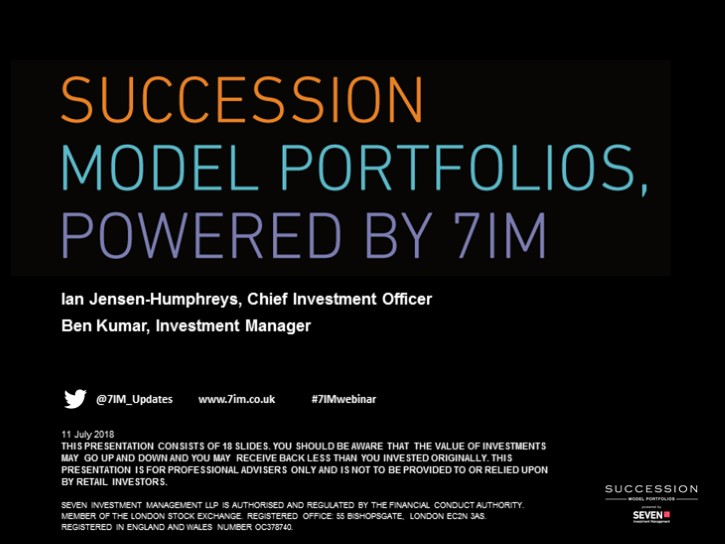 Succession Model Portfolios, Powered by 7IM, Q3 Tactical Positioning