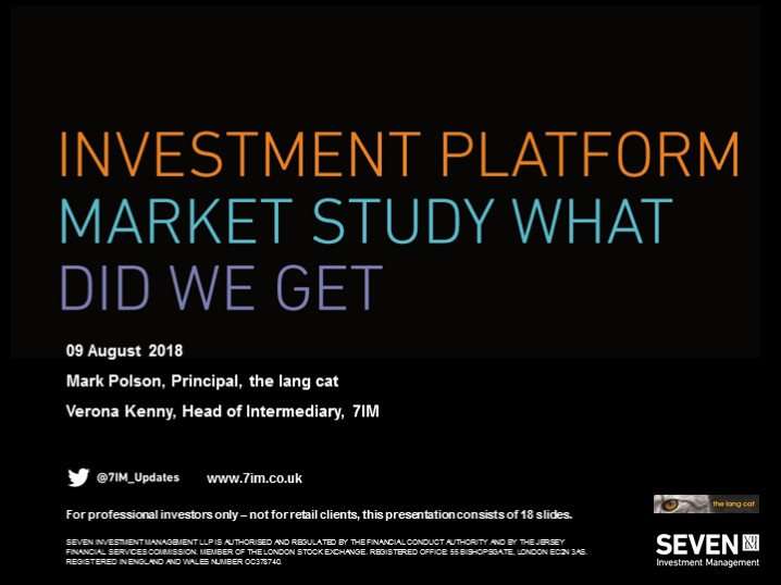 Investment Platforms Market Study - an overview from the lang cat