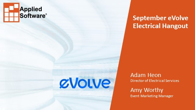 September eVolve Electrical Hangout