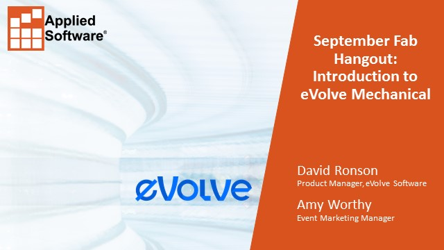 September Fab Hangout: Introduction to eVolve Mechanical