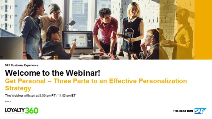 Get Personal: Three Parts to an Effective Personalization Strategy