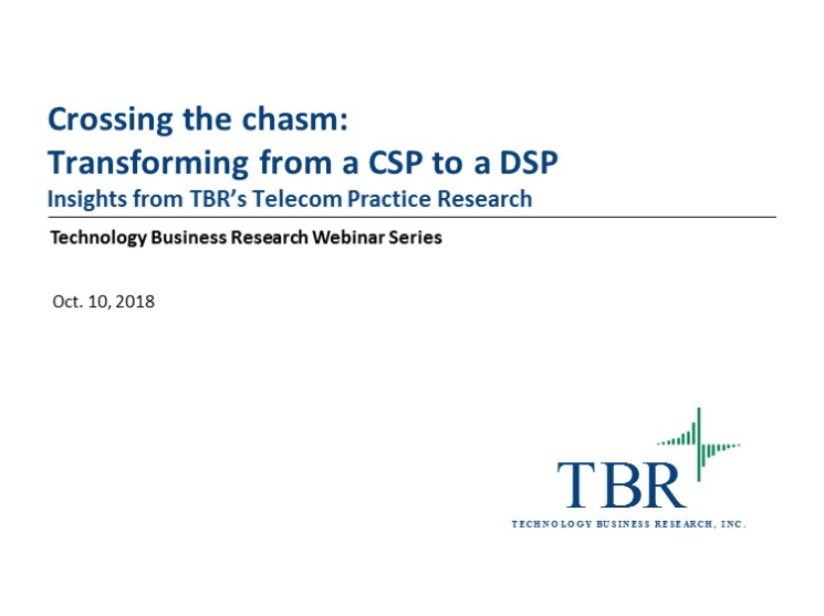 Crossing the chasm: Transforming from a CSP to a DSP