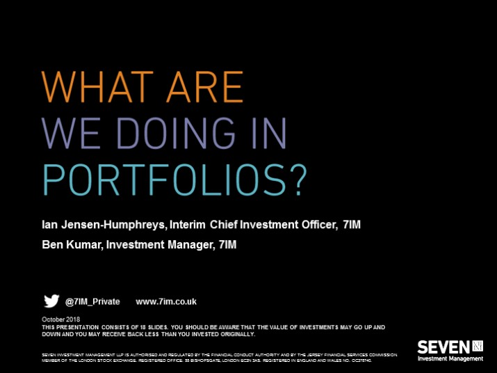 What are we doing in portfolios?