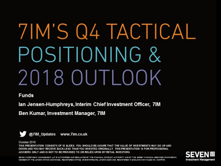 7IM's Q4 Tactical Positioning - Funds