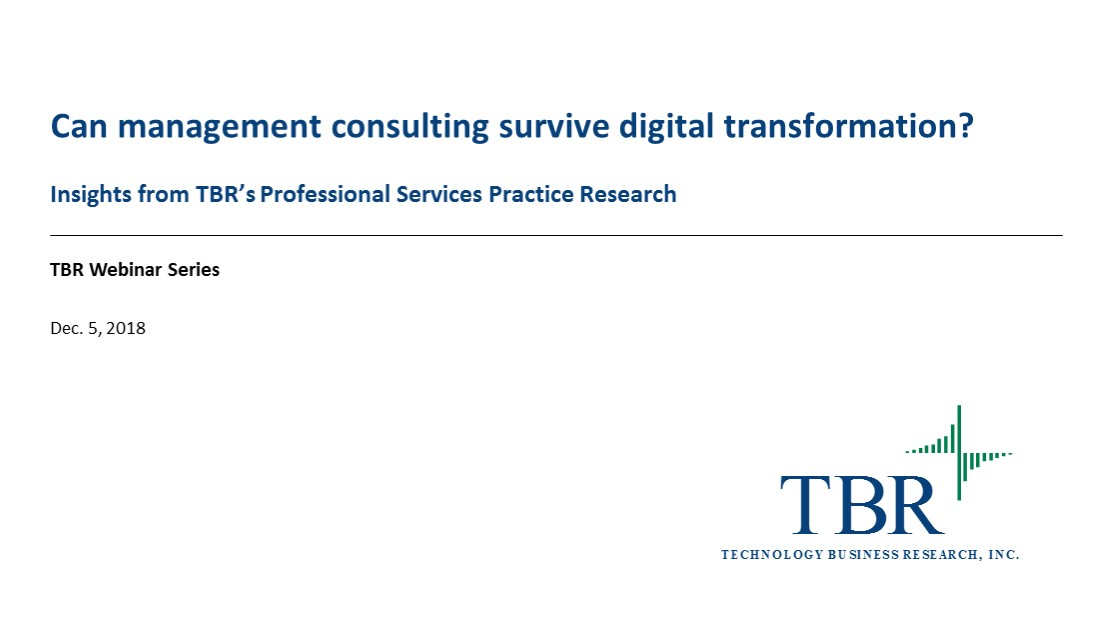 Can management consulting survive digital transformation?