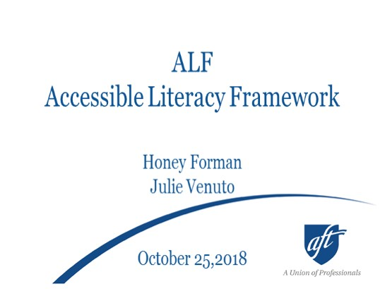 Accessible Literacy Framework - Literacy Strategies for Individuals with Complex Communication Needs (CCN)