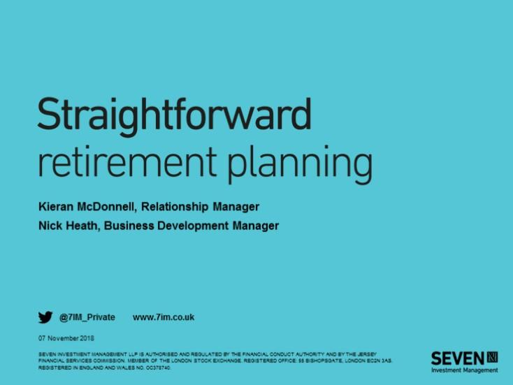 Straightforward retirement planning