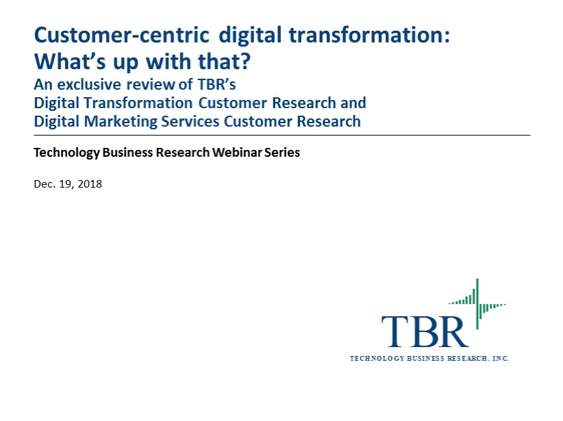 Customer-centric digital transformation: What's up with that?