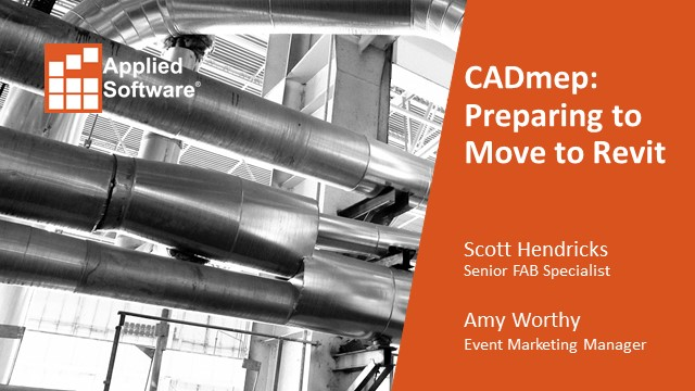 CADmep: Preparing to Move to Revit