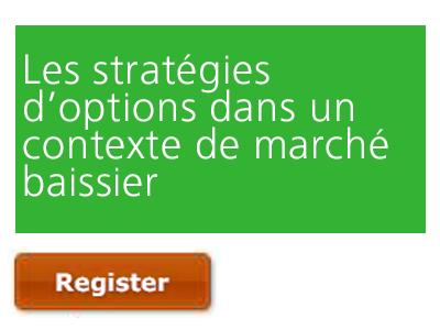 Les stratégies d'options dans un contexte de marché baissier