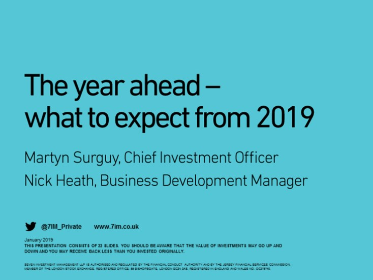 The year ahead - what to expect from 2019