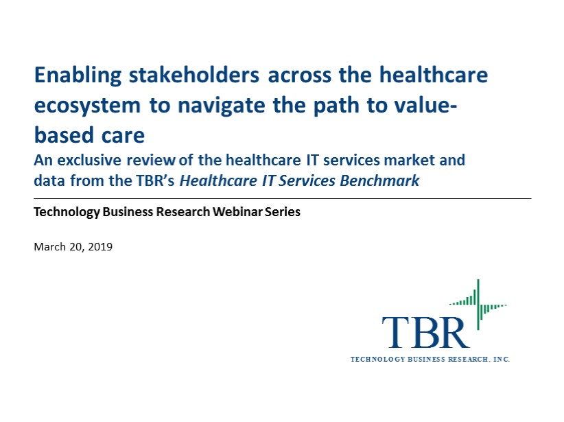 Enabling stakeholders across the healthcare ecosystem to navigate the path to value-based care