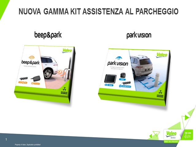 Nuova Gamma Kit Assistenza al Parcheggio Valeo