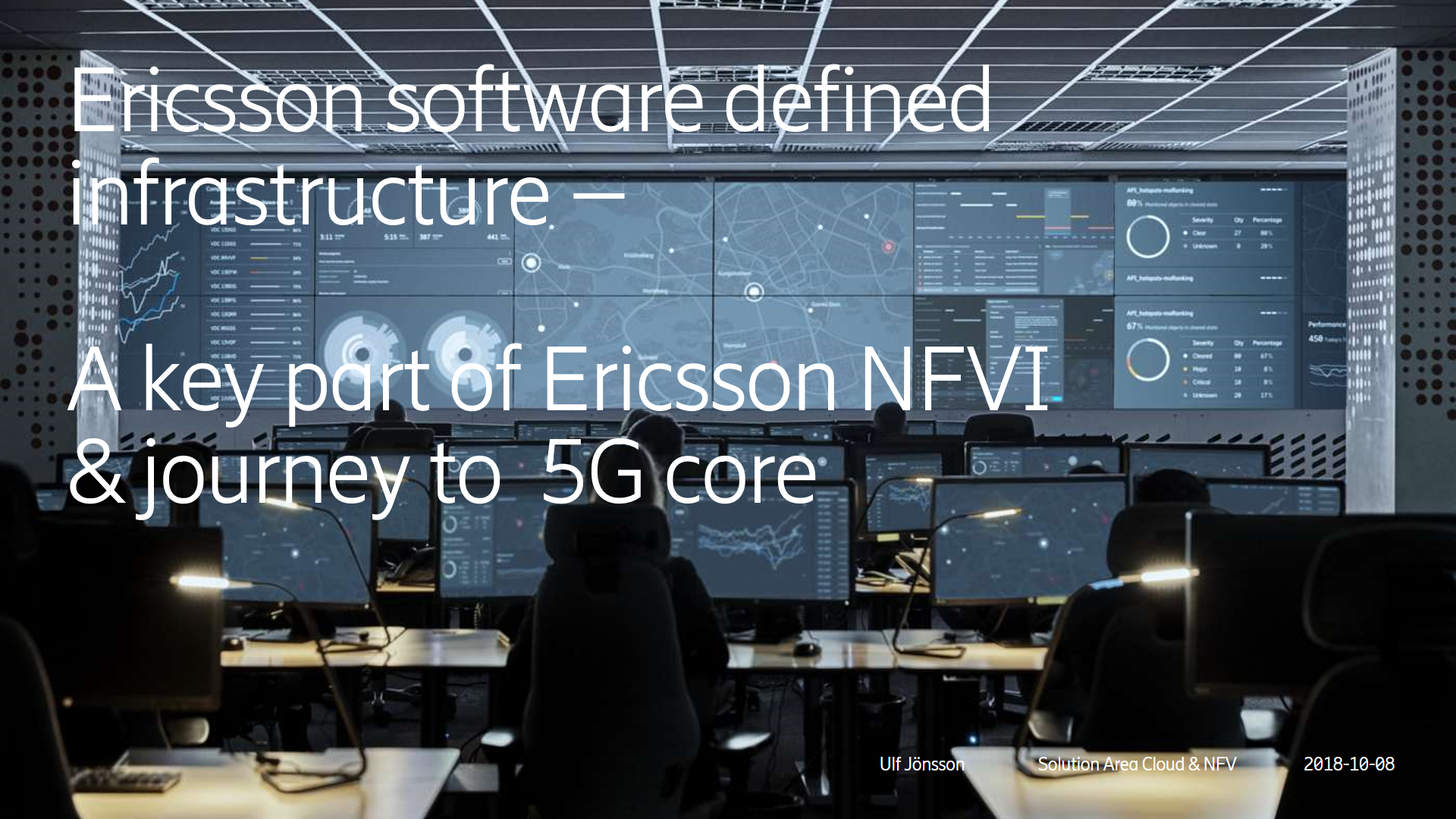 Ericsson software defined infrastructure