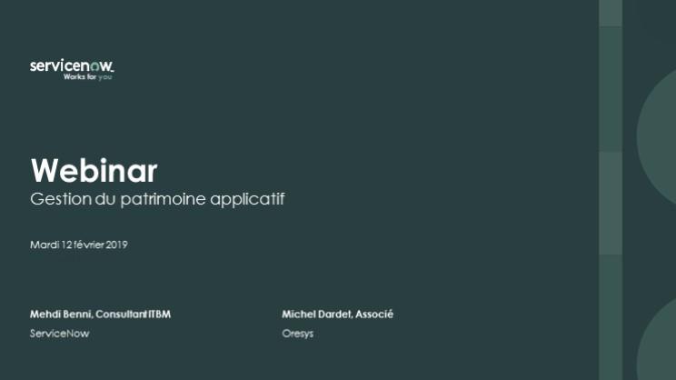 Webinar Sur La Gestion Du Portefeuille D'applications