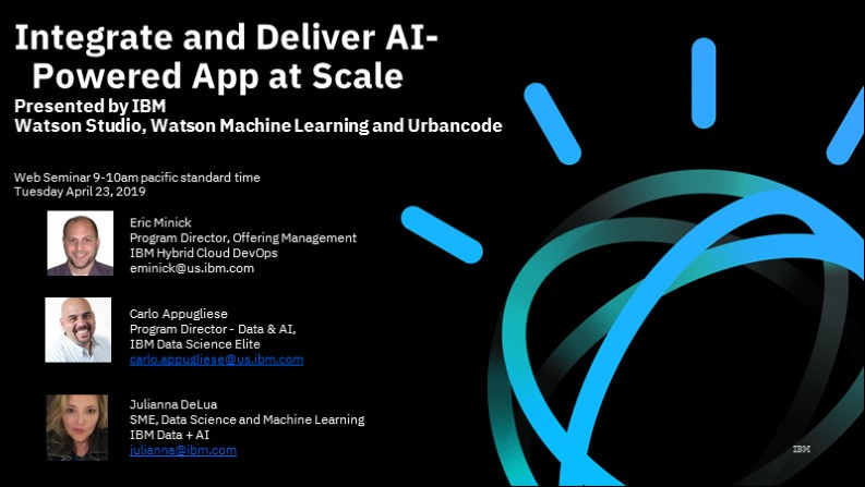 Integrate and Deliver AI-Powered App at Scale with IBM