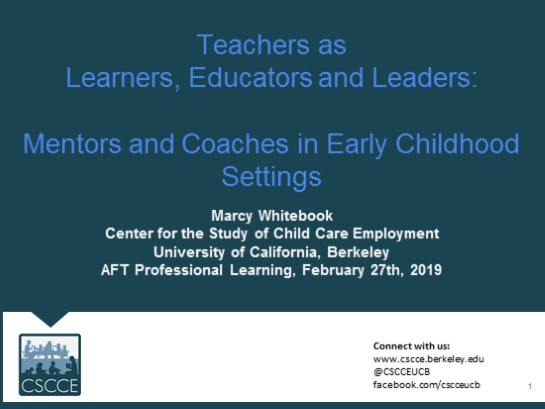 Mentoring in Early Childhood Education