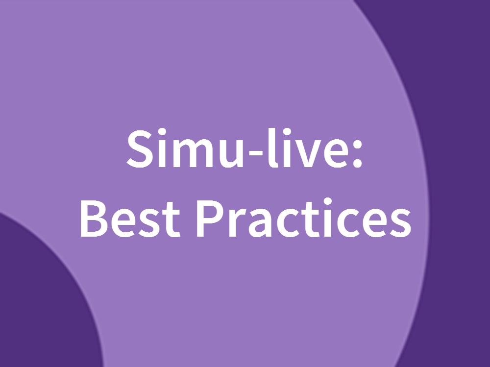 Best Practices for Simu-live Webcasts