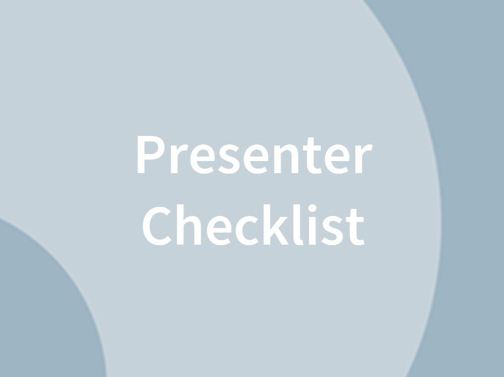 Webinar Presenter Checklist
