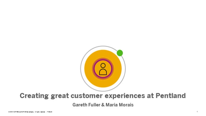 Creating great experiences at Pentland
