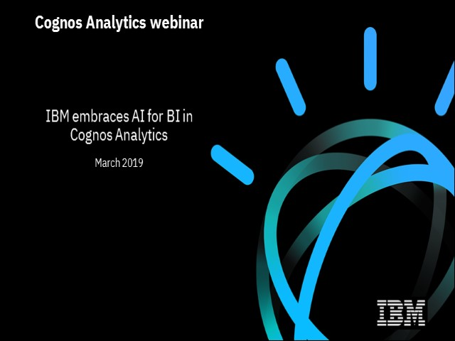IBM embraces AI for BI in Cognos Analytics
