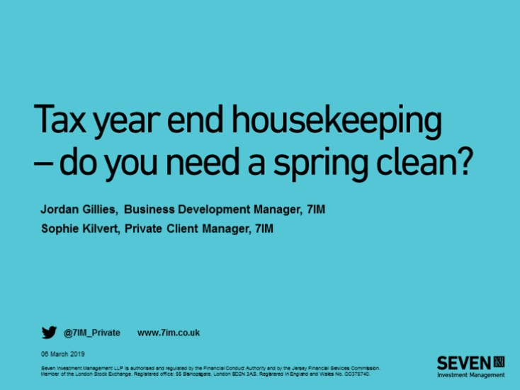 Tax year end housekeeping - do you need a spring clean?