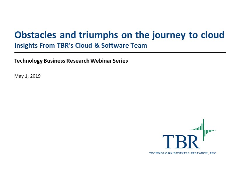 Obstacles and triumphs on the journey to cloud