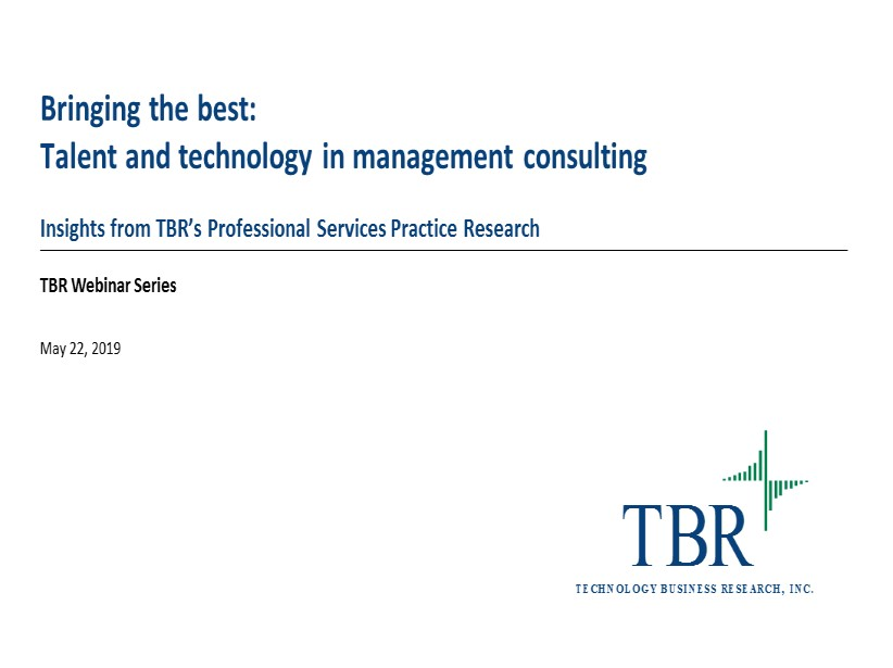 Bringing the best: Talent and technology in management consulting