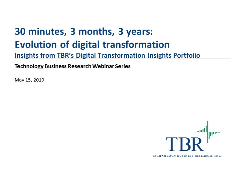 30 minutes, 3 months, 3 years: Evolution of digital transformation