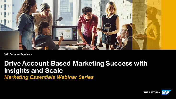 Drive Account-based Marketing Success with Insights and Scale