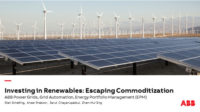 Investing in Renewables – Escaping Commoditization: AMR