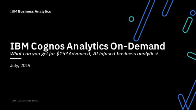 What can you get for $15? Advanced, AI infused business analytics!