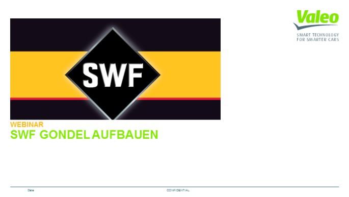 SWF Gondel aufbauen
