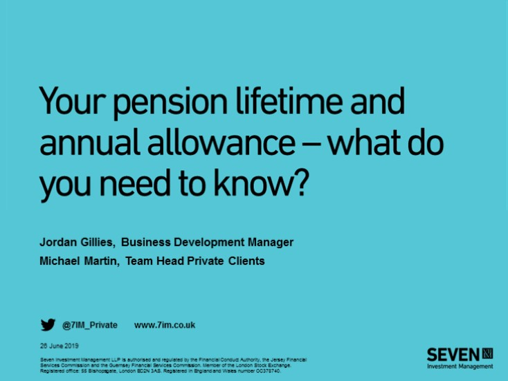 Your pension lifetime and annual allowance - what do you need to know?