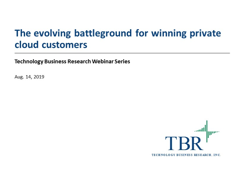 The evolving battleground for winning private cloud customers
