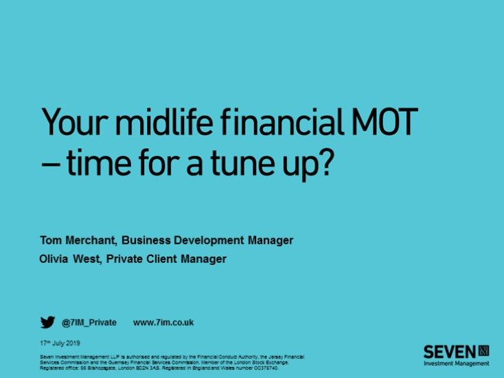Your midlife financial MOT- time for a tune up?