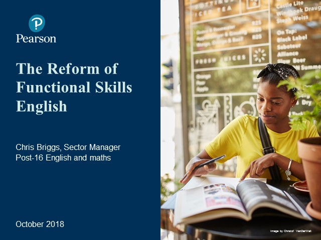 Recording: Functional Skills Reforms: English