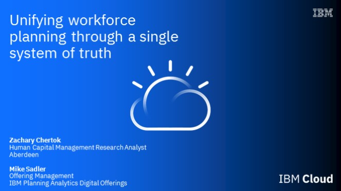Unifying workforce planning through a single system of truth