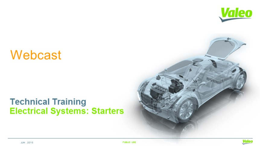 Electrical Systems: Starters - Technical Training