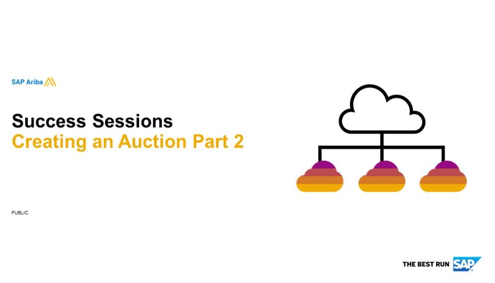 SAP Ariba: Creating An Auction Part 2