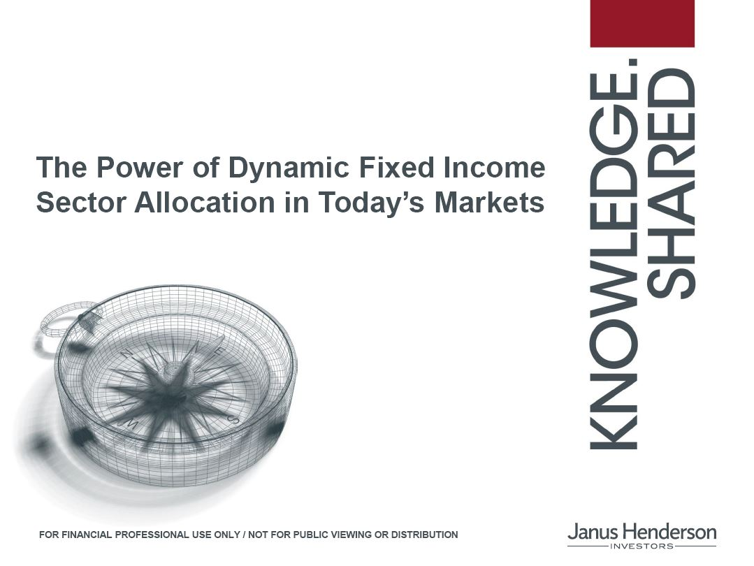 The Power of Dynamic Fixed Income Sector Allocation in Today's Markets