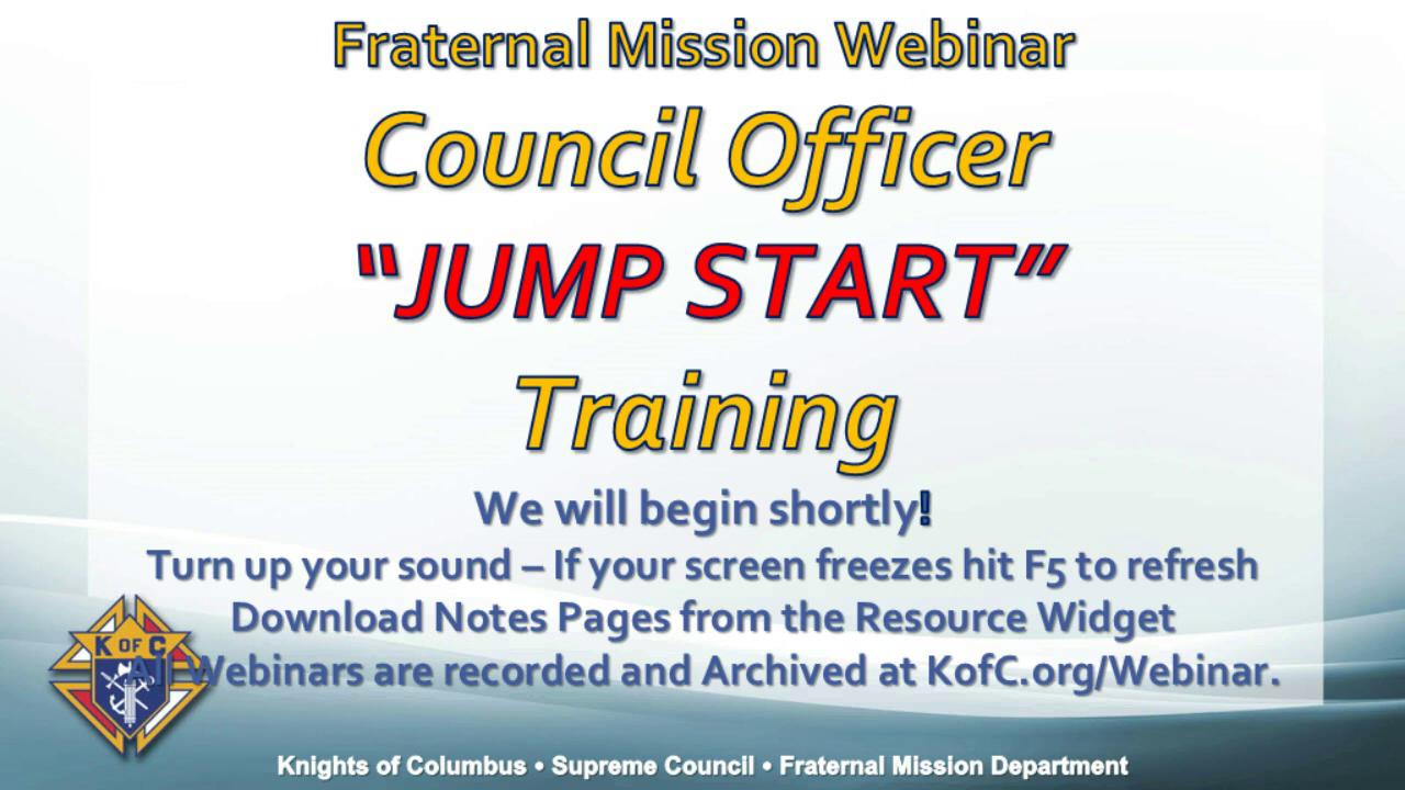 Council Officer Jump Start Training
