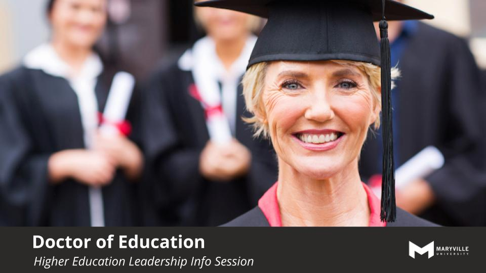 Webinar | Maryville Online | EdD | Program Webinar | July 9 2019