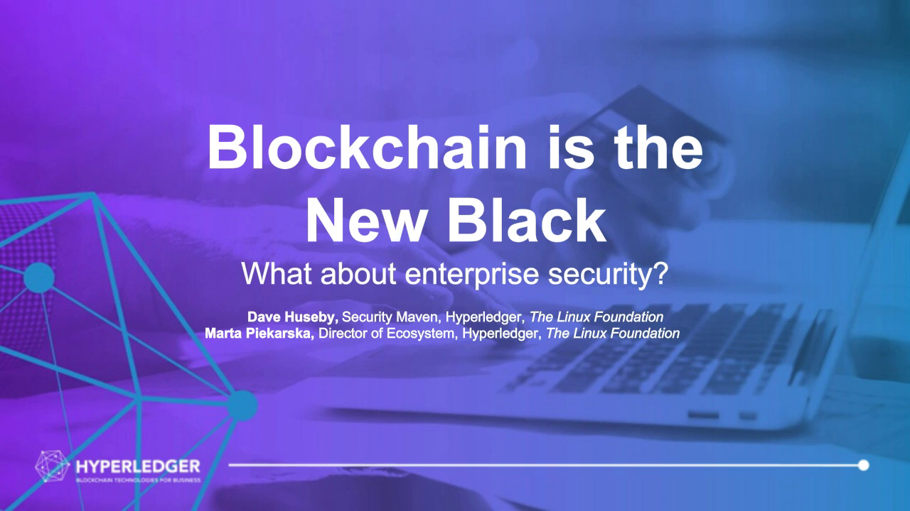 Blockchain and the enterprise. But what about security?