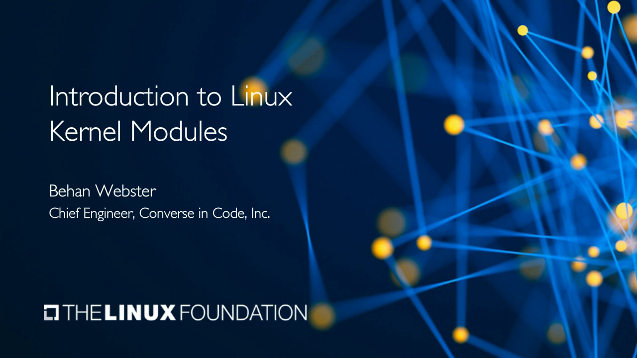 Introduction to Linux Kernel Modules