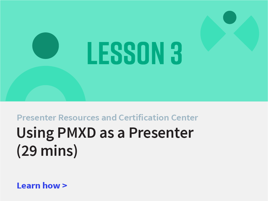 Using Presentation Manager XD as a Presenter