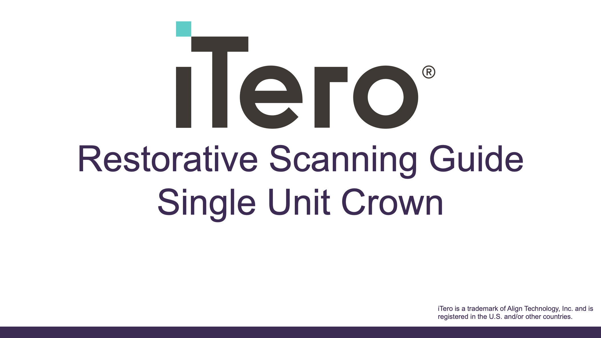 Step-by-step restorative scanning guide for a single unit crown.